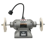 "JET IBG-8VSB, 8""  Industrial Variable Speed Bench Buffer (8"" x 1"" Wheel, 1HP)"