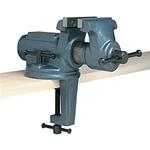 "Wilton CBV-100, 4"" Super-Junior Vise with Clamp-On Swivel Base"