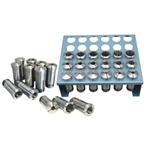 JET Premium 35-Piece 5-C Collet Set, with Rack (1/32nd)