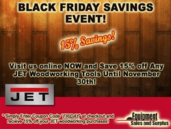 JET Black Friday 15% Promotion!