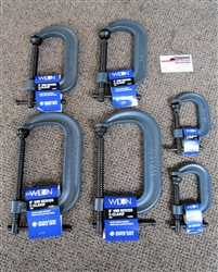"Wilton 400-Series 6-Pc. Set Forged C-Clamps (2-Pc. Each 6"", 4"" and 2"")"